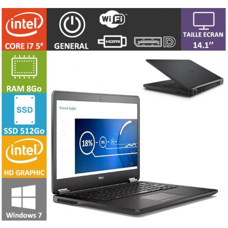 Dell latitude e7450 i7 8Go SSD512 W7P