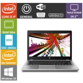Hp elitebook folio i5 8Go 180SSD Windows 10 Pro