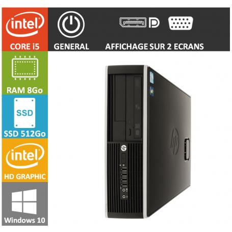 LOT 20 PC HP Core i5 8Go 512Go SSD W10Pro