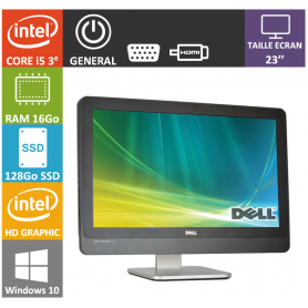 All in One DELL Core i5 16Go SSD128Go Windows 10 Pro