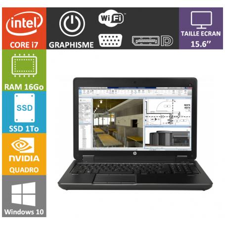 Hp Zbook 15 i7 16Go SSD1000 W10P