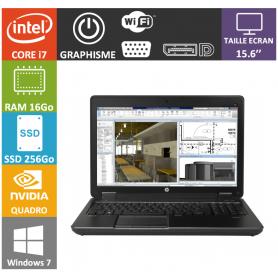 Hp Zbook 15 i7 16Go SSD256 W7P