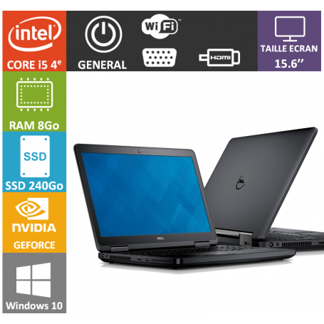 DELL Latitude e5540 8Go 240SSD W10P Geforce 2Go