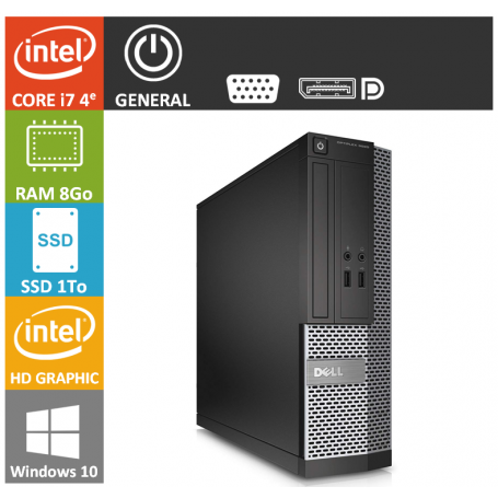 Dell Optiplex i7 8Go 1000SSD W10P