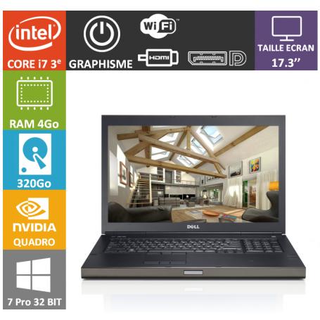 Dell Precision 17 4Go 320Go Quadro K3000M WP732