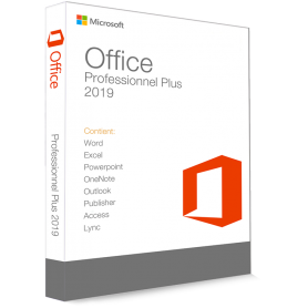 OFFICE PROFESSIONNEL 2019 Word, Excel, Outlook, PowerPoint, Publisher, Access