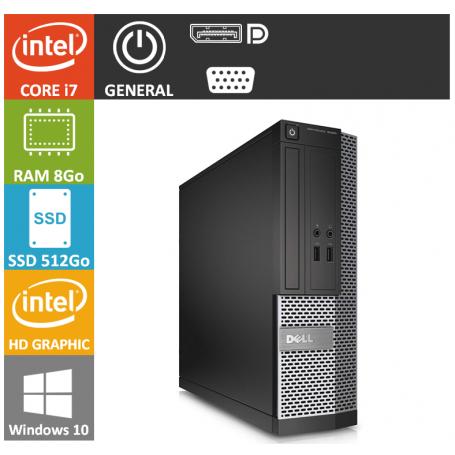 Dell Optiplex 990 SFF Core i7 8Go 512SSD