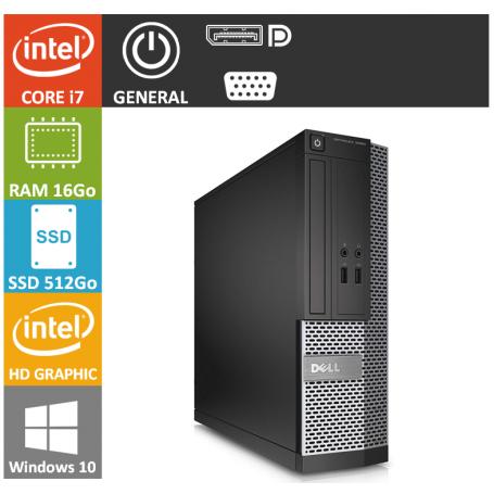 Dell Optiplex SFF Core i7 16Go 512SSD