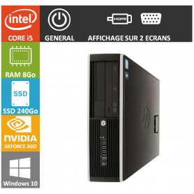 PC HP Core i5 8Go 240Go SSD W10P Geforce 2Go