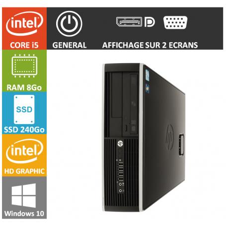 PC HP Core i5 8Go 240Go SSD Windows 10 Pro