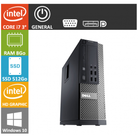 Dell 7010 Core i7 8Go 512SSD Windows 10 Pro