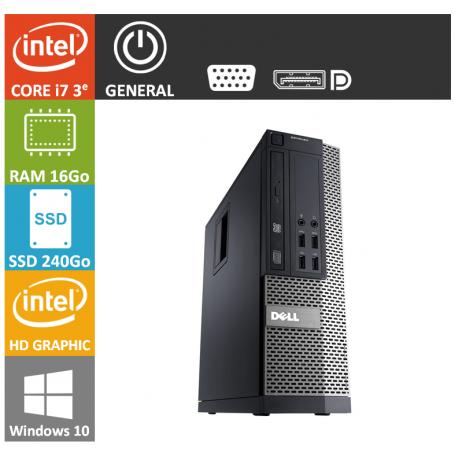 Dell 7010 Core i7 16Go 240SSD Windows 10 Pro