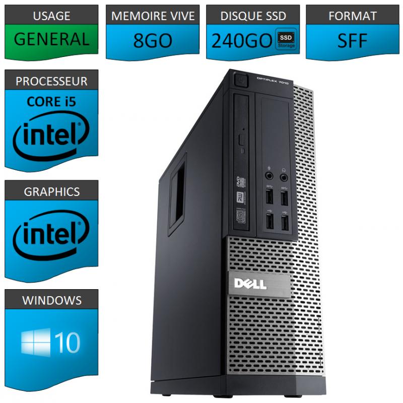 Dell 7010 Core i5 8Go 240SSD Windows 10 Pro