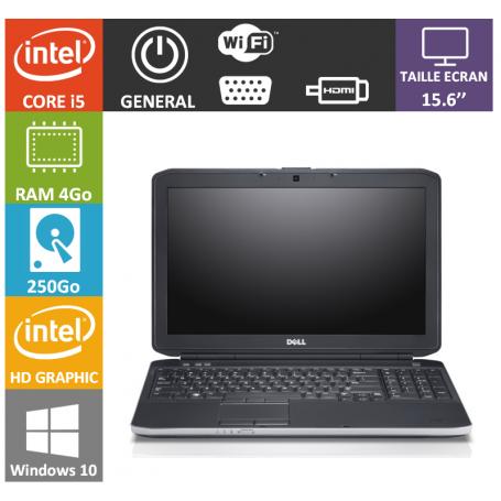 DELL Latitude e5520 4Go 250Go Windows 10 Pro Port HDMI