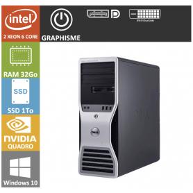 dell workstation : Bi Processeur xeon 6 cores 32go 1000ssd