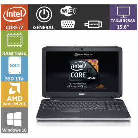 DELL I7 16Go SSD 1To 15.6 pouces