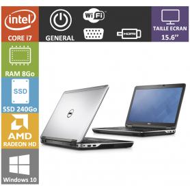 DELL Latitude 15.6'' i7 8Go SSD240Go AMD