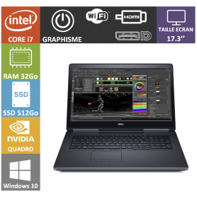 dell precision i7 32go ssd512
