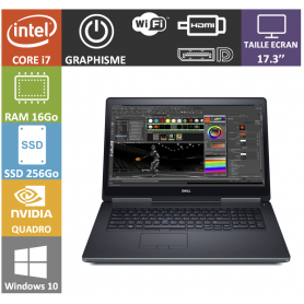 dell precision i7 16go ssd256