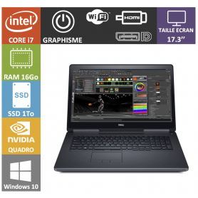 dell precision i7 16go ssd1000