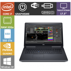dell precision i7 32go ssd1000