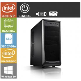 PC NEUF Core i5 8Go SSD240Go Windows 10 Pro