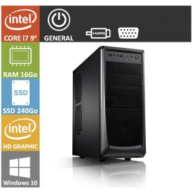 PC NEUF Core i7 16Go SSD240Go Windows 10 Pro