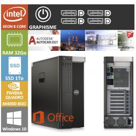 DELL PRECISION Xeon 8 Cores 32Go 1000SSD Quadro M4000 8Go
