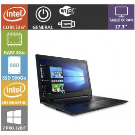 Lenovo i3 4Go SSD500 17 Win 7 Pro 32