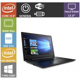 Lenovo i3 4Go SSD1000 17 Win 7 Pro 32