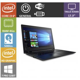 Lenovo i3 4Go 500Go 17 Win 7 Pro 32