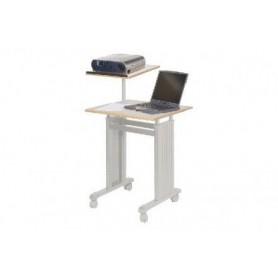 Table projecteur/pc portable 4 roulettes -Gris clair 78350